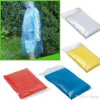 Viajes desechable Impermeable emergencia para adultos impermeable del poncho de la capilla de campaña debe unisex capa de lluvia de una sola vez de Emergencia ropa impermeable DA357