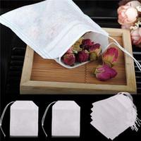 Teabags 5,5 x 7cm vazios cordão sacos de chá curar vedação do filtro de papel para 2500pcs Herb chá frouxo
