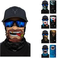 UV 보호 스카프 남성 여성 낚시 마스크 사이클링 스키 반다나 넥 게이터는 해골 동물 늑대 얼굴 쉴드 스카프 발라 클라을 3D