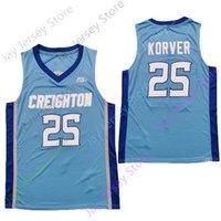 2020 Novas NCAA Creighton Bluejays Jerseys 25 Korver College Basketball Jersey azul Tamanho Youth Adulto Bordados