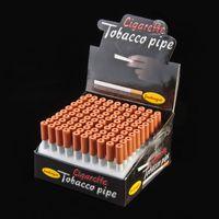 Frühling zigarette form rauchen rohre 83mm aluminiumlegierung metall rohr ein hitter bat dugout rohr snuff snorter halter zubehör