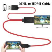 العلامة التجارية الجديدة نمط MHL مايكرو USB إلى الهواتف HDMI 1080P HD TV كابل محول للحصول على الروبوت سامسونج