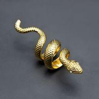 Herren Hip Hop Schmuck Gold Ring Hohe Qualität Punk Übertriebene Schlangenlegierungsringe für Männer