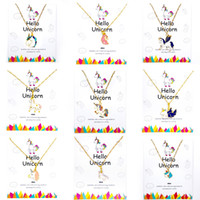 25 Style Necklace for Girls Unicorn Card Pendant Wihoo Horse...