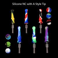 DHL !!! fumatori silicone Nectar collettore con 14 millimetri Consigli quarzo bong silicone tubo di fumo piattaforma petrolifera tubo di vetro