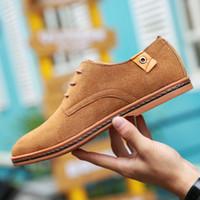 Talla grande 48 hombres Oxfords Faux Suede Leather Hombres Zapatos casuales Primavera Otoño Moda Oxford Zapatos Hombres 2019 Masculino Tenis Zapatos