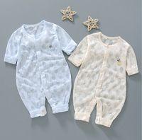 Neue Sommer Baby Mädchen Strampler Designer Kinder Mode Oansatz Kurzarm Jumpsuits Infant Mädchen Baumwolle Strampler Jungen Kleidung