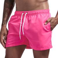 JOCKMAIL marca bicchierini del bordo di Uomini traspirante Sport Nuoto Shorts solido di colore elastico in vita nuotata della spiaggia di pantaloncini estivi