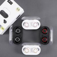 DT-2 TWS беспроводных наушников Bluetooth 5,0 сенсорного управления Earbuds Водонепроницаемой гарнитура 3D стерео наушники с микрофоном DHL