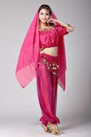 les filles de gros-femmes Halloween Party cosplay danse du ventre Aladdin Princesse Jasmine Costume adultes costumes de mode pour les femmes 6 couleurs