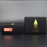 extraits TKO matte tube noir de cartouche vape 1 ml Tube childproof avec étiquette boîte noire d'emballage 510 cartouche fil bobine en céramique vape