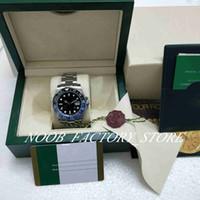 2 Stil Luxus beste Qualität Uhr 40mm GMT Blau Schwarz Keramik-Lünette Automatik ETA 2813 Bewegung Herrenuhr original box