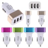 Универсальный тройной USB автомобильное зарядное устройство адаптер USB разъем 3 порта автомобильное зарядное устройство для iPhone Samsung Ipad Бесплатная доставка DHL