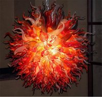 2020 100% Hand Blown Dale Chihuly Style Borosilicate Glass Art Dome Light High Ceiling Murano Ball Chandelier