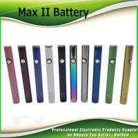 Original Amigo Max II Preaquecimento Da Bateria 450 mAh Variável Tensão VV Vape Box Mod Para 510 Espessura Cartuchos Tanque Vaporizador de Óleo 100% Autêntico