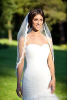 Velo de novia cortos con apliques de encaje CPA267