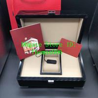 Papeles de calidad superior PP reloj original caja de cartón de madera cajas de regalo rojo del bolso Caja para PP Nautilus Aquanaut 5711 5712 5990 5980 Relojes