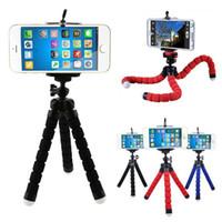 Mini titular flexível do telefone da câmera Octopus Tripod Suportes Suportes Monte Monopé para telefones celulares inteligentes