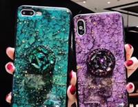 Fashion Fashion Glitter Sequin 3D Stampo epossidico progettato Custodia rigida con supporto per telefono xs xsmax Custodia per cellulare universale