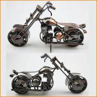Neuestes Design Amerikanisches Art-Eisen-Kunst-Metallhandwerk Harley Motorrad-Modell-Spielzeug-Motorrad-Modelle Spielzeug Hauptdekoration Zubehör Souvenir