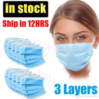 UPS Ship Within 24h, 3- Ply Blue Disposable Mask Dustproof No...