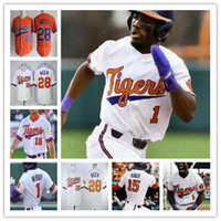 Clemson Tigers Beyzbol Jersey 16 Bo Majkowski 35 Çad Fairey 13 Bryce Teodosio 22 Sam Weatherly 28 Seth Bira Sam Hall ücretsiz gönderim