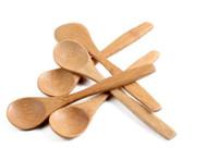 13 cm Runde Bambus Holzlöffel Suppe Tee Kaffee Honig löffel Löffel Rührer Mischen Kochen Werkzeuge Catering Küchengerät SN3139