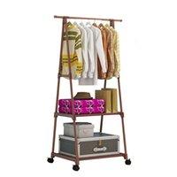 Multifunktionsdreiecke Einfache Kleidergestell Edelstahl Abnehmbare Kleidung Hängende Kleiderbügel Bodenständer Kleider Räder QUSMS