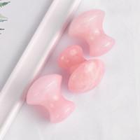 Doğal Jade Vücut Yüz Guasha Plakalı Gül Kuvars Mantar Şekli Yüz Masaj Doğal Jade Yüz Masaj RRA2704