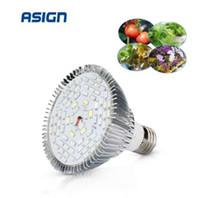 LED Phyto Lamp Full Spectrum 30W 50W 80W E27 LED Grow Light Fitolampy Bulbs 5730 SMD 28 40 78 120LEDs Lamp For Plants Seeding