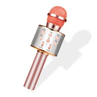 WS858 bluetooth microphone de karaoké haut-parleur professionnel sans fil consender de poche microfone radio mikrofon studio enregistrement micro pour smartphon