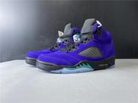 Novo 5 V 5s Baixo Black Roxo Homens Sapatos de Basquete Sneakers Esportes Trainers ao ar livre com caixa Melhor qualidade Tamanho 7-13
