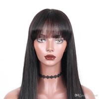 Pelucas de cabello humano con frente de encaje 13x4 Cabello humano europeo Cabello liso Encaje completo con peluca delgada de perímetro de piel para B
