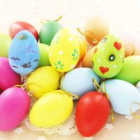 Paskalya DIY Yumurta Yumurta İşi Yumurta Kabuğu Dekorasyon Simülasyon Renkli Yumurta Kabuğu Yapay Yumurta Kabuğu Şenlikli Olay Parti Malzemeleri Boyalı