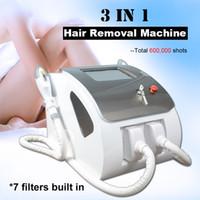 أحدث آلة إزالة الشعر بالليزر ipl تختار SHR إزالة الشعر الدائم إيلاءة معدات تشديد الجلد 2 * 300،000 طلقات