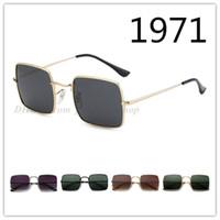 1971 nova marca óculos de sol da moda tendência de metal óculos de sol homens e mulheres quadrados óculos óculos 5 opções de cores
