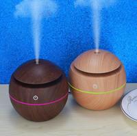 USB Holzkorn Ultraschall Luftbefeuchter LED Mini Tragbare ätherische Öle Diffusor Home Office Schlafzimmeröle Diffusoren OA6969