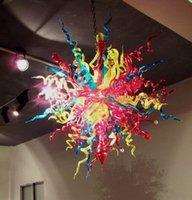 Nouvelle arrivée Encastré Lustre lumières Big Taille Livraison gratuite Hôtel coloré Lustre contemporain en verre de Murano