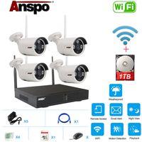 Система камеры 4CH Wifi Wireless Security С 1 ТБ жесткий диск HDD установлен 960P ночного видения CCTV Главная Наблюдение IR-Cut Водонепроницаемый