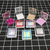 Побрякушки побрякушки алмазный блеск ресниц упаковочной коробки квадратные накладные ресницы упаковочной коробки хранения пластиковые коробки HHA1277