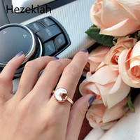 الهيب هوب الشرير S925 الفضة الاسترليني السيدات شل خواتم أسود العقيق شخصية الأزياء الفاخرة الوردية الذهب الدائري الدائري