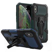 Telefon-Kasten für iPhone SE 2020 11 pro xs max 7 8 Plus Heavy Duty Stoß- Rüstung Tasche mit Gürtelclip