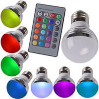 IR과 새로운 3W E27 GU10 LED RGB LED 전구 원격 제어 팝 램프 색상 LED 전구 튜브를 변경 AC 85-265V 변경