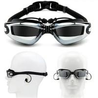 Miopia Óculos de banho Óculos de protecção auricular Profissional Óculos De Protecção Anti-nevoeiro Mulheres Óculos Ópticos à prova de água FT107