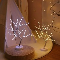 LED Night Light Etoiles Snowflake Suspendue LED de fil de cuivre Lumières d'arbre Lumières écran tactile Commutateur Accueil Party Decoration XD23184