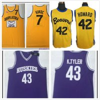 Uomini The 6th Man Kenny Tyler Movie Jersey Teen Wolf Beacon Beavers Scott Howard Richmond Oilers Timo Jugoplastika Jugoslavia Toni Kukoc