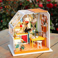 1: 24 Dollhouse Kit Miniature DIY Kitchen Daining House Kits ...