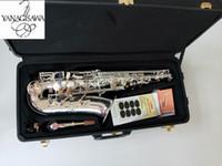 Migliore Qualità A-992 Nuovo Arrivo Sassofono Alto Sassofono Silver Silver Strumenti musicali con il boccaglio Trasporto libero