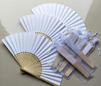 El abanico de la boda de seda / papel con los fans plegables de la mano del bolso de la organza modificó el regalo de boda para requisitos particulares para la huésped W8489
