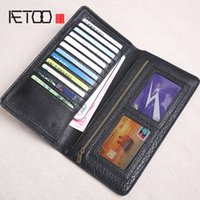AETOO Wallet men' s long leather men' s first layer ...